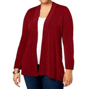 Karen Scott Open Front Cardigan Sweater Size 1X
